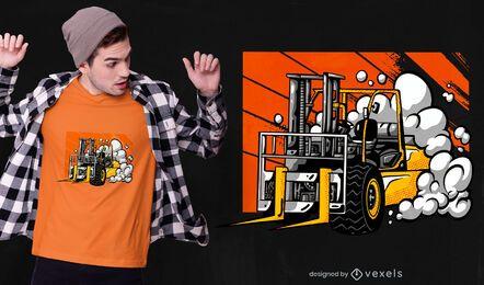 Design de camiseta de empilhadeira