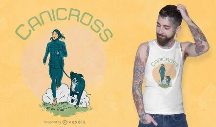 Diseño de camiseta de perro canicross