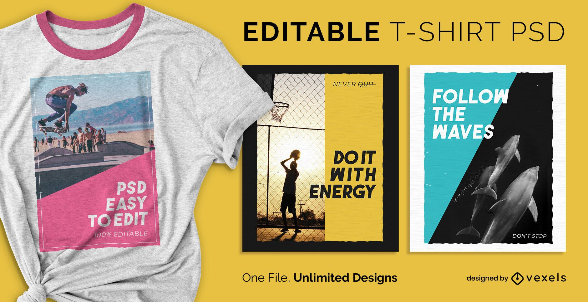 Action poster scalable t-shirt psd