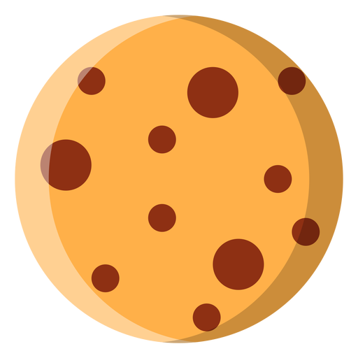 Chewy chocolate chip cookie flat