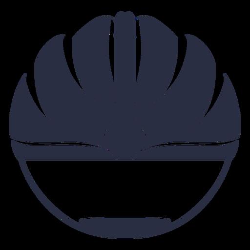 Corte frontal del casco de bicicleta