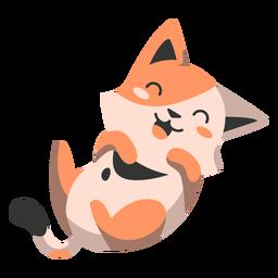 Laughing kitten semi-flat