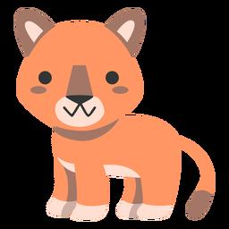 Cute cougar semi-flat
