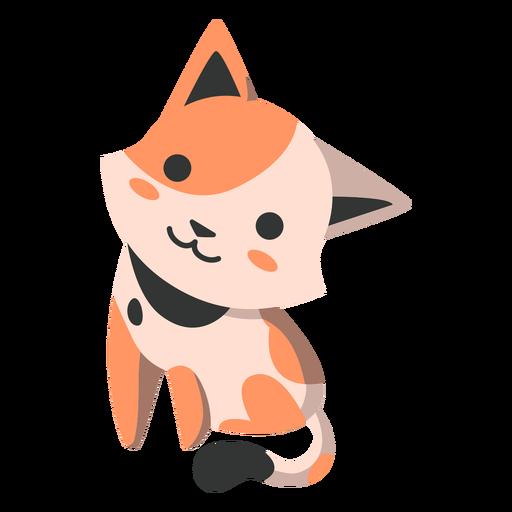 Cute kitten semi-flat Transparent PNG
