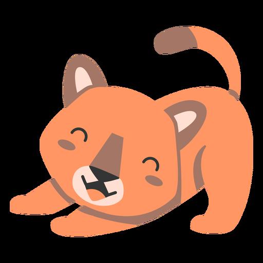 Puma estiramiento semi-plano