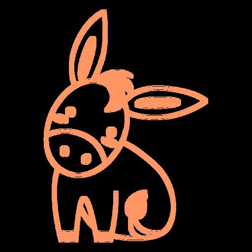 Cute donkey filled-stroke