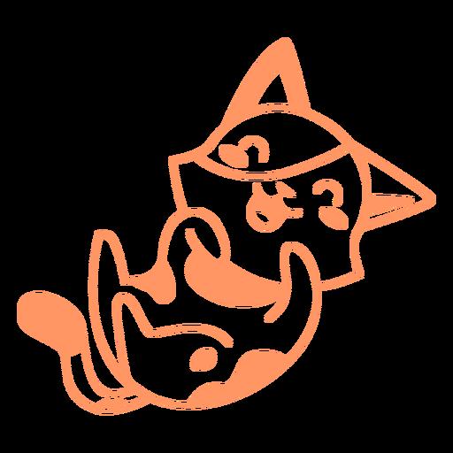 Laughing kitten filled-stroke