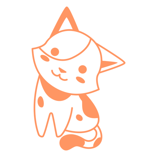 Cute kitten filled-stroke