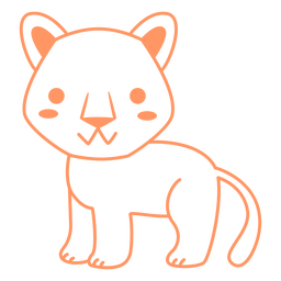 Cute cougar filled-stroke