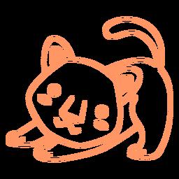 Puma estirando trazo lleno