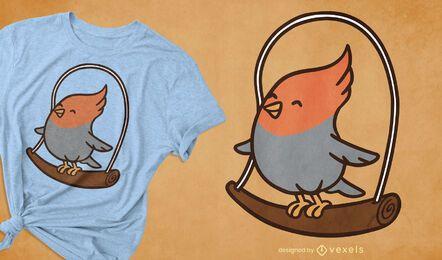 Design de camiseta cockatiel
