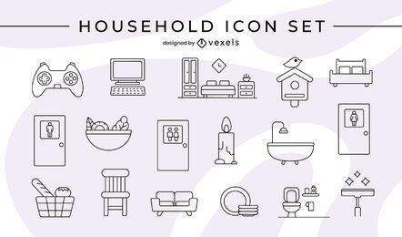 Conjunto de ícones domésticos