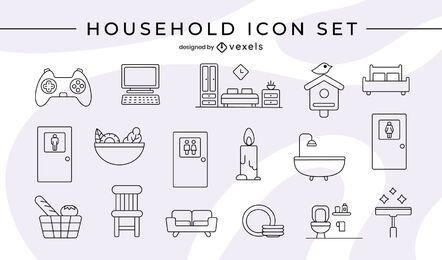 Household icon set