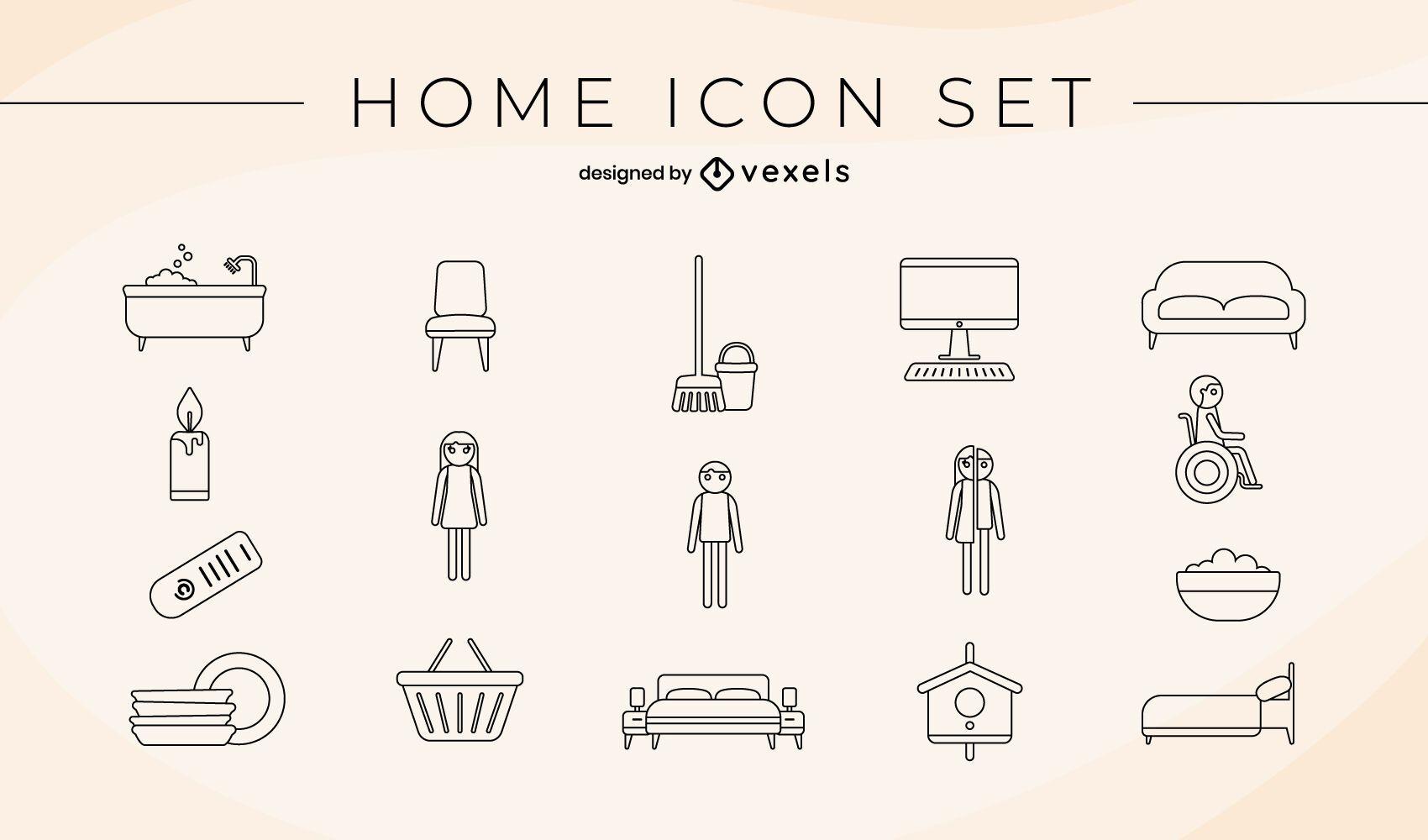 Pacote de ícones para casa