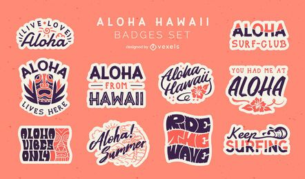 Aloha badges set