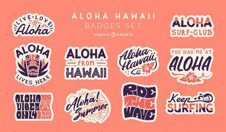 Conjunto de emblemas Aloha
