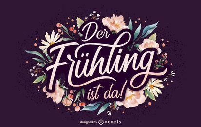Deutscher Frühlingsbeschriftung
