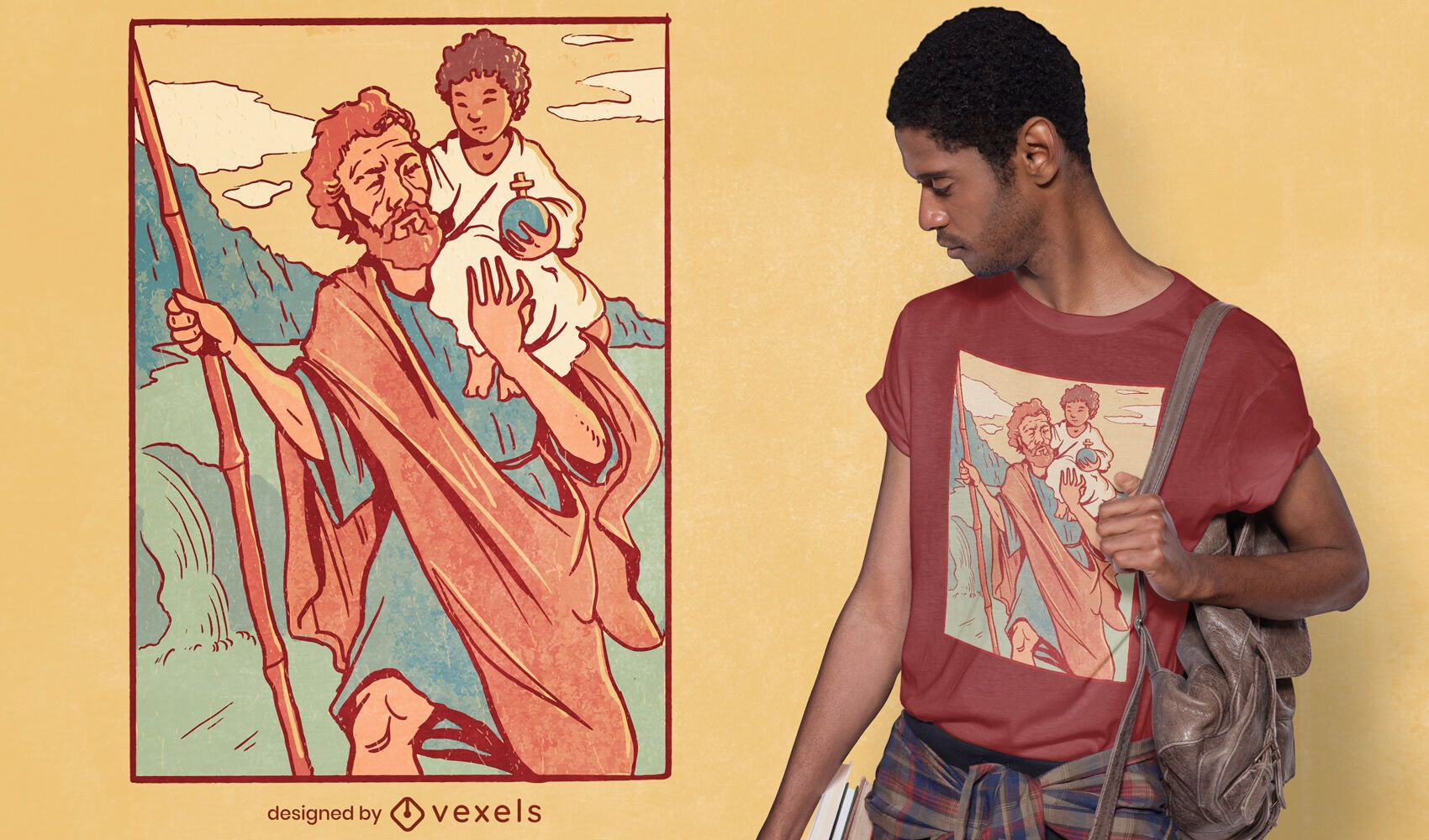 Diseño de camiseta de san cristóbal