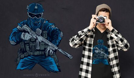 Special forces agent t-shirt design