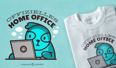 Diseño de camiseta oficial de la oficina en casa.