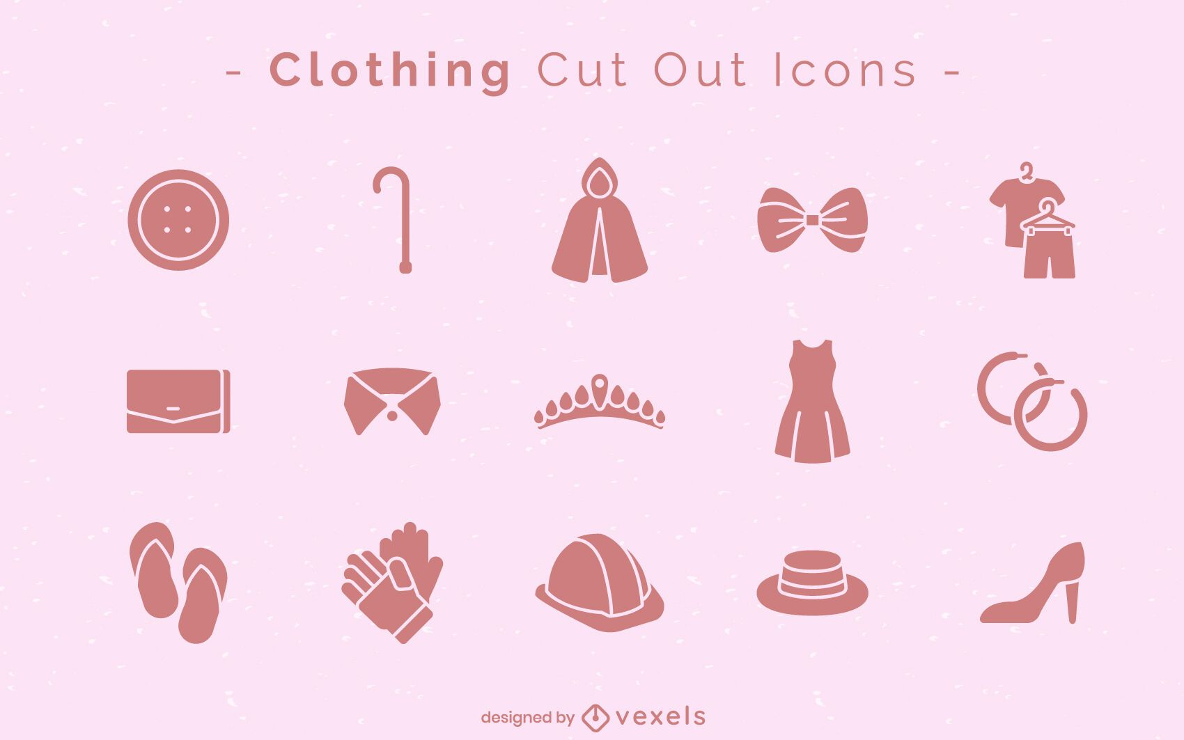 Clothing cut-out icon set