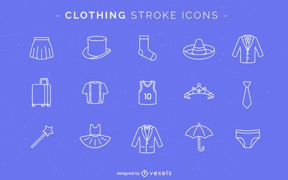 Stroke clothing icons