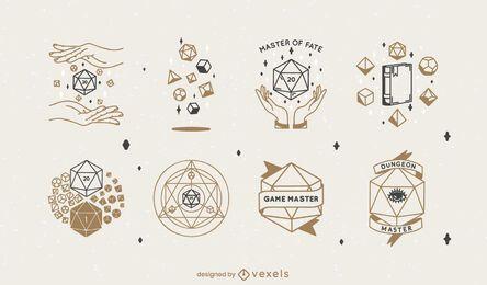 Polyhedral dice rpg set