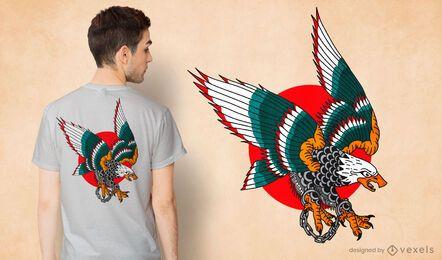 Diseño de camiseta de esposas de águila.