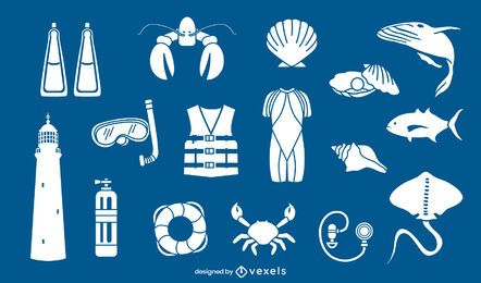 Diving elements cut-out set