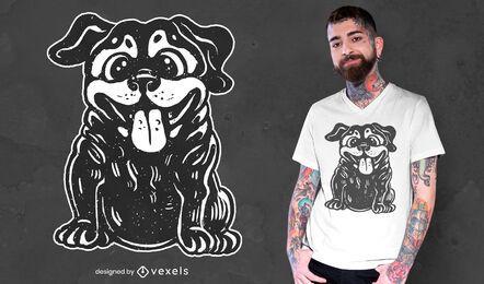 Diseño de camiseta de cachorro feliz