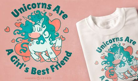 T-Shirt-Design des besten Freundes des Mädchens