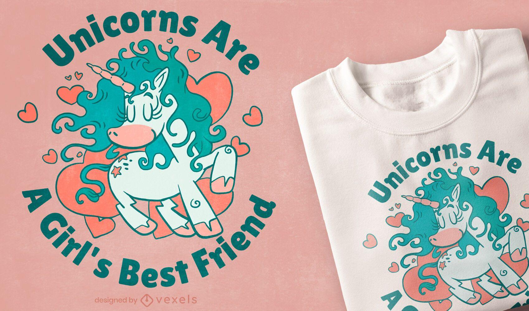 Diseño de camiseta de la mejor amiga de la niña.