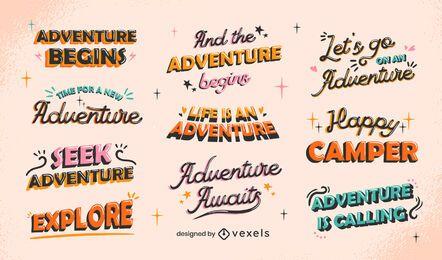 Abenteuer-Schriftzug
