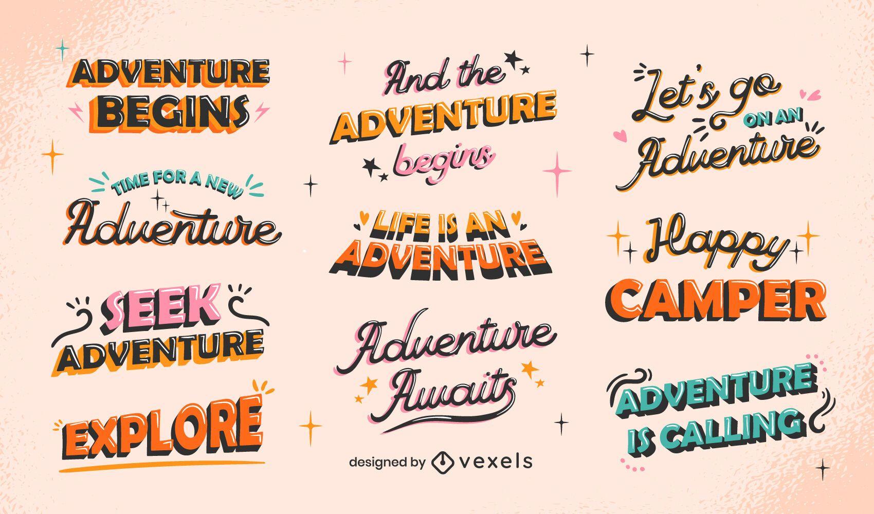 Conjunto de letras de aventura
