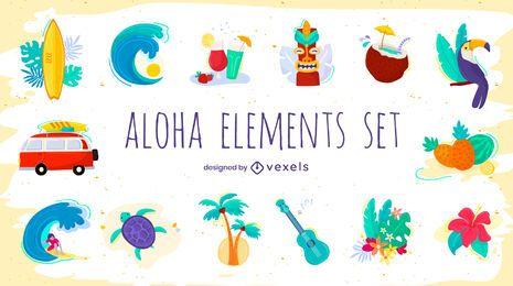 Conjunto de elementos aloha