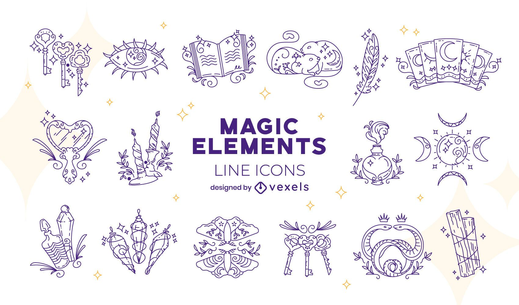 Magic elements icon pack