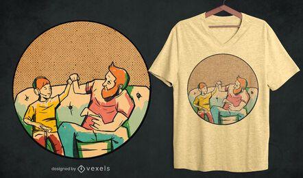 Dad gamer t-shirt design