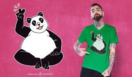 Panda peace sign t-shirt design