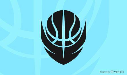 Plantilla de logotipo de pelota de baloncesto
