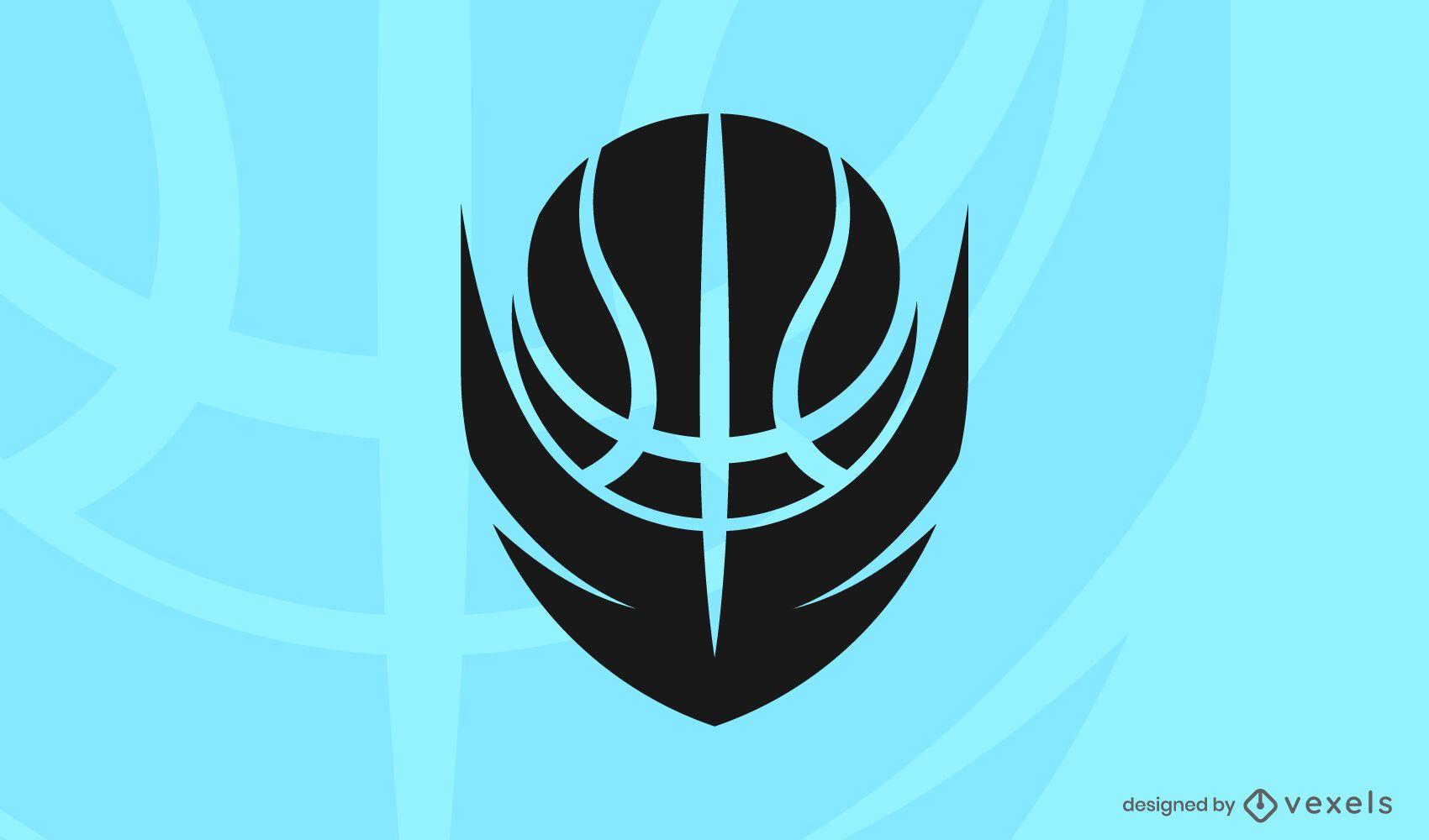 Modelo de logotipo de bola de basquete