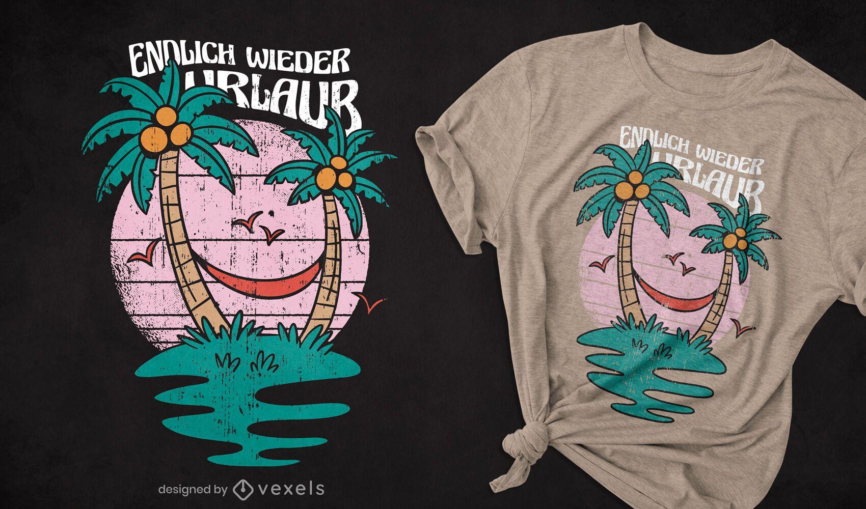 Diseño de camiseta alemana de vacaciones.