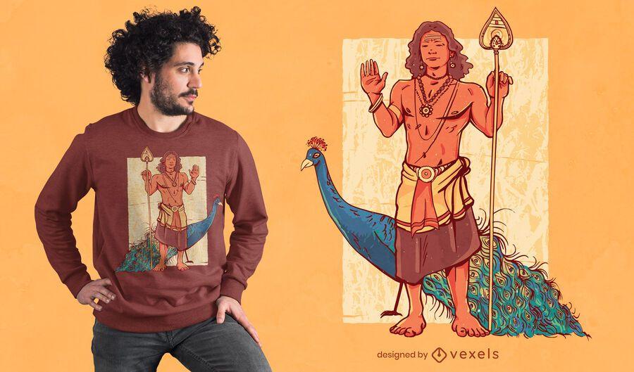 Design de camiseta Murugan