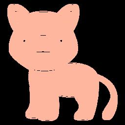 Cute cougar cut-out