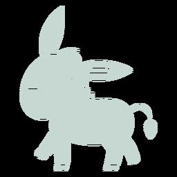 Cute donkey walking cut-out