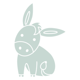 Cute donkey cut-out
