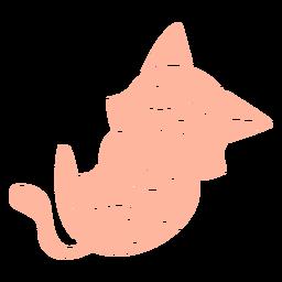 Recorte de gatito riendo
