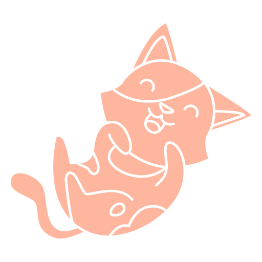 Laughing kitten cut-out