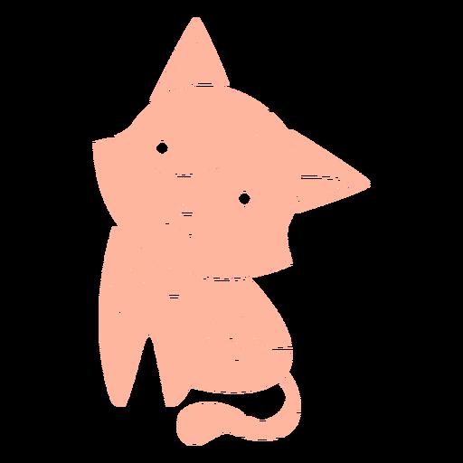 Cute kitten cut-out
