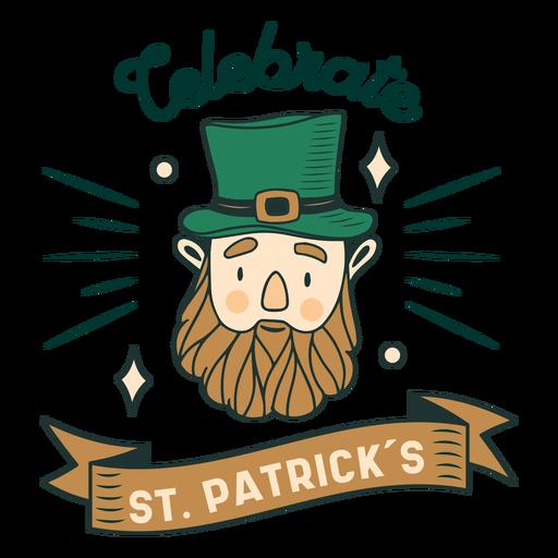 St patricks day celebration badge