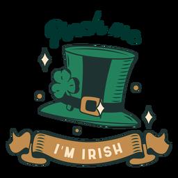 Pellizcame soy insignia irlandesa